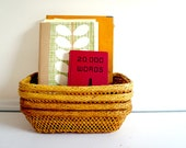 Retro Woven Baskets // Yellow or Red Set of 4