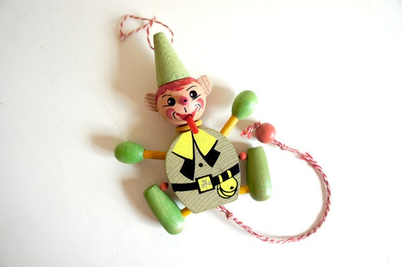 Austrian Leprechaun pull toy ornament