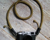 Camera Strap Hand knotted - Khaki - Strong, Beautiful and Unique, Double Celtic Knot -  Photographer, Photo Accessory, Film Digital cameras
