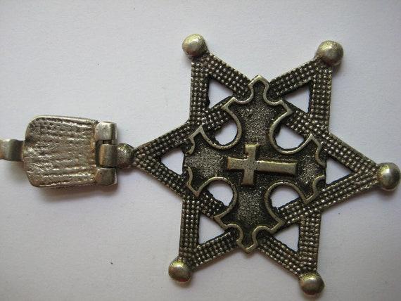 Hinged Ethiopian Star of David Coptic Cross