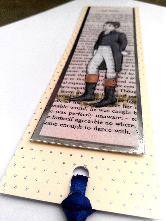 Dreams Of Darcy - Handmade Jane Austen Pride and Prejudice Bookmark