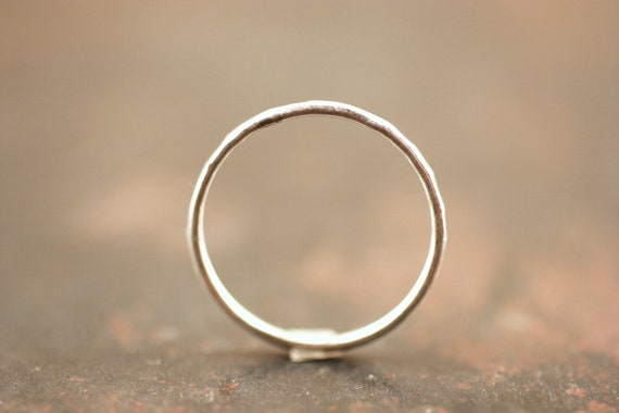 Thin Silver Ring, Stacking ring, one sterling silver stacking ring, hammered silver ring, thin stacking ring, skinny silver stacking ring
