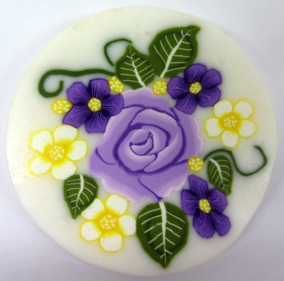 Polymer clay flowers cane