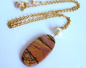 Slice of Jasper necklace