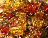 Sparkling Plastic Rectangle Beads Assorted Mix