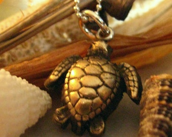 Bronze Sea Turtle Pendant