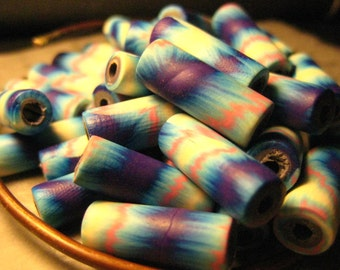 18mm Polymer Clay Cylinder Beads