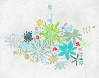 Mars - Art - Print of an original illustration - Color Print - Drawing - Botanical print - Flowers - Children room decor