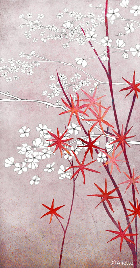 Illustration - Fine Art Print of an original illustration - floral - botanical - home decor - wall art