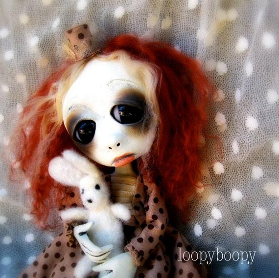 Loopy Gothic Art Doll Ooak Halloween Decoration Adele Jolene