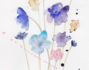 Small Wild Flowers card