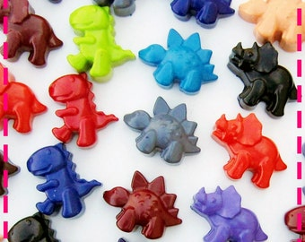 KIDS' DINOSAUR CRAYONS Coloring Party Pack of (20) Party Favors - Recycled Eco-Friendly Toys in Assorted Colors - For Boys and Girls