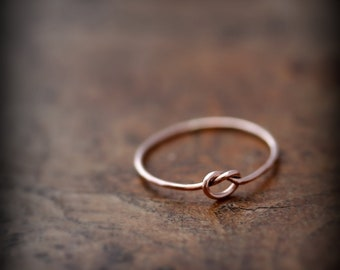Knot ring - solid 14K rose gold ring