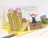Birthday Card - Clara Loves Presents - Single Card (Blank)