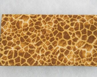 Checkbook Cover - Giraffe