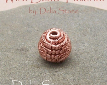 Wire Bead Tutorial by Delia Stone Instant Download
