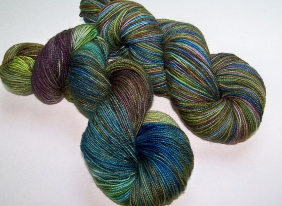 SPRING SALE 30 Percent Off -- Hand Painted 2-Ply Superwash BFL and Nylon Sock Fingering -- Tropical Fish