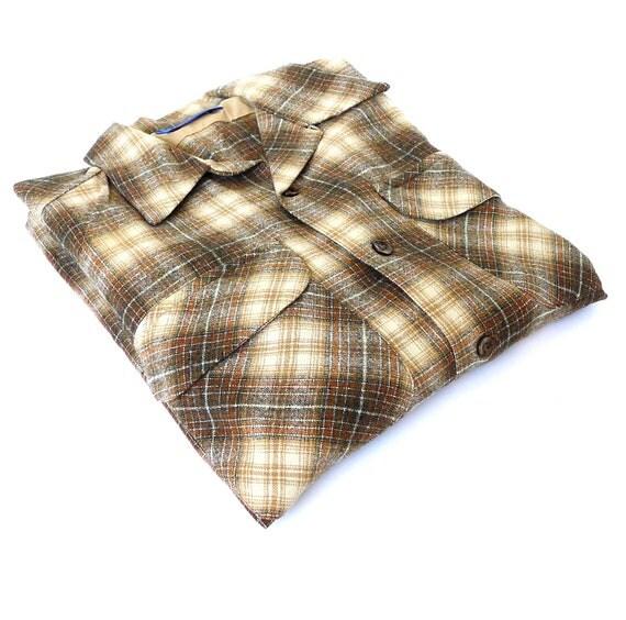 Pendleton Plaid Wool Shirt Mens Medium