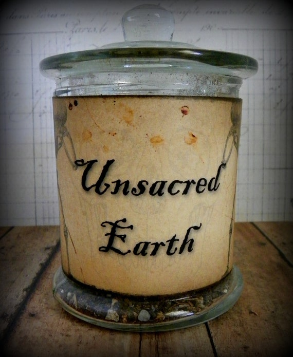 Unsacred Earth-Vintage Style Halloween Apothecary Label