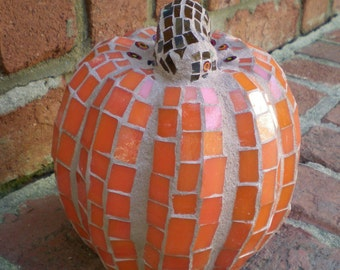 Stained Glass 3-D Mosaic Pumpkin