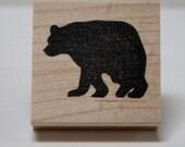 California Black Bear Silhoutte rubber stamp