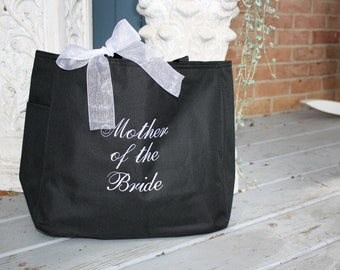 SALE Mother of the Bride AND Mother of the Groom Monogrammed Tote Bag Set