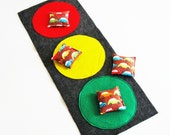 Cars Bean Bag Toss Game - Cars Party Game / Party Favors - Beanbag Toss Set - Traffic Light - Stoplight Game - Travel Game