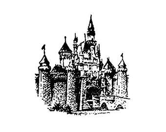 Disneyland Magic Kingdom Castle Rubber Stamp sleeping beauty castle