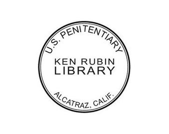 Alcatraz Penitentiary themed stamp Ex Libris / From the Library of Custom Rubber Stamp - Personalized Library Stamper