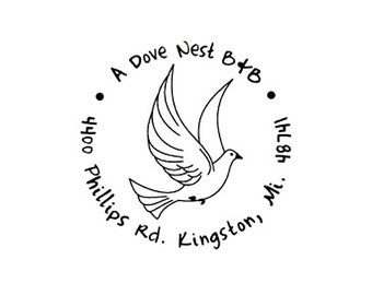 Peace dove custom rubber stamp
