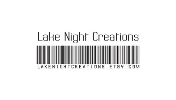 barcode custom rubber stamp customized with your info on it