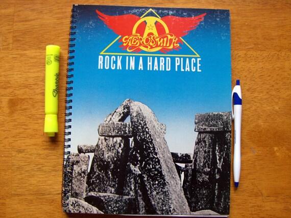 Record Album Sketch Book Journal - AEROSMITH - UPCYCLED Vinyl LP
