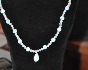 Peruvian Opal and Quartz Necklace