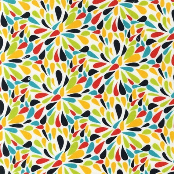 NEW Robin Zingone Modern, Petals, Citrus Fabric - By the Yard