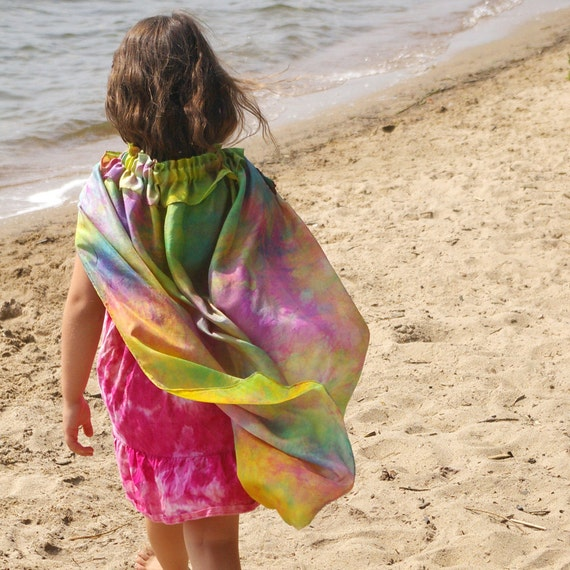 CRUSH :: Custom Hand Dyed Silk Cape for Your Favourite Crush (Child's Playsilk Cape)