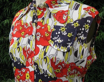Vintage 1970s Sleeveless Sheath Dress