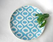 Round serving platter or tray Mediterranean pattern