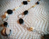 Final Payment - custom creation - Black and White layering necklace.