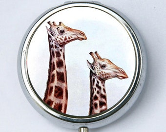 Giraffe PILL CASE pillbox pill case pill box ZOO animal
