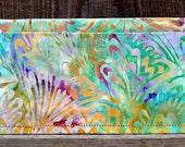 Checkbook Cover and Card Case - Portofino Batik