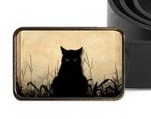 Black Cat Buckle Halloween Buckle Cat Belt Buckle