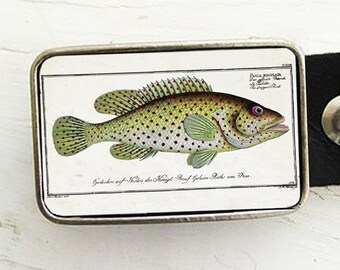 Fish Belt Buckle- Colorful Perch