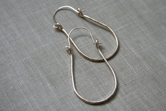 Forged 14K Gold Fill Hoop Earrings