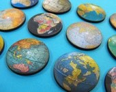 Wooden Vintage Globe Cuts - 12 Different Laser Cut Globes