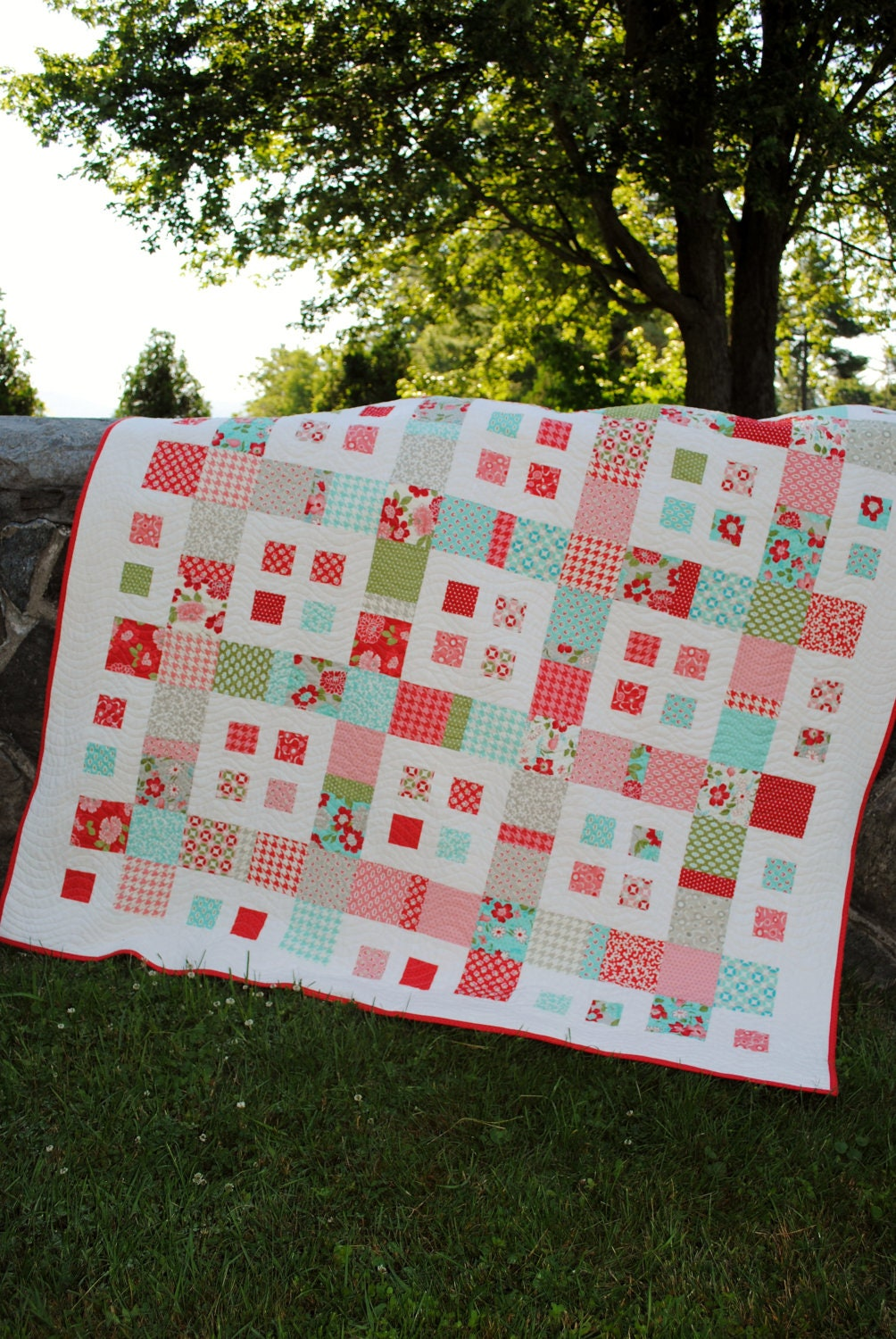 Pdf Quilt Pattern Layer Cake And Fat Quarter Friendly