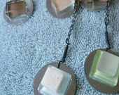 Glass Tile and Natural Stone Necklaces-SALE