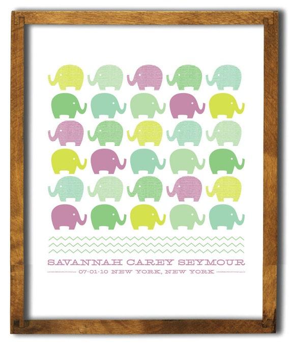 8 x 10 Elephant Print