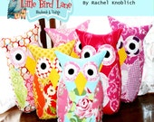 Instant Download Treasury Item The Fat Quarter Owl PDF Sewing Pattern DIY Tutorial EASY and Safe peek a Who