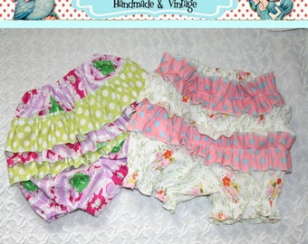 Instant Download Treasury Item The Ruffle Bum Bloomers Pantaloons DIY Tutorial PDF Pattern Ebook Easy Sizes 6 Months to 4t