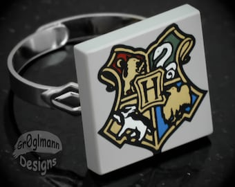 Harry Potter LEGO Coat of Arms Adjustable Ring